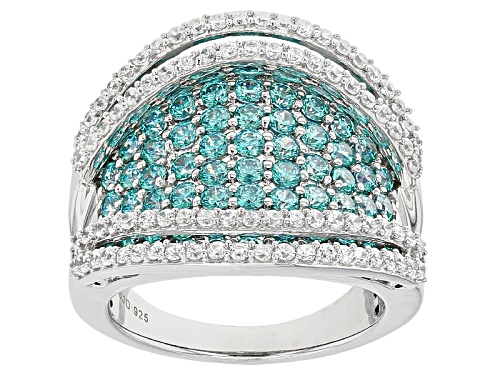 Photo of Bella Luce ® 5.56ctw Rhodium Over Sterling Silver Ring With Mint Swarovski ® Zirconia - Size 5