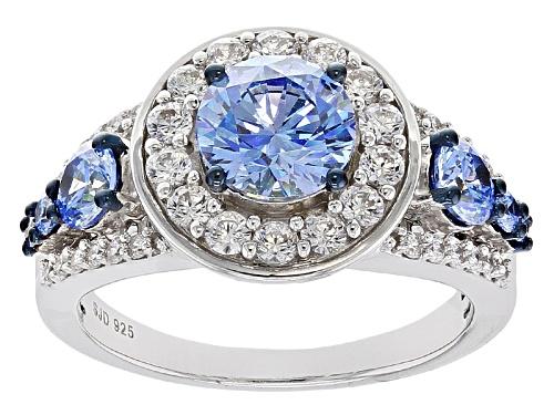 Photo of Bella Luce ® 4.69ctw Rhodium Over Silver Ring With Arctic Blue Swarovski ® Zirconia - Size 10