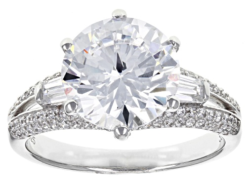 Photo of Bella Luce ® 7.52ctw White Diamond Simulant Rhodium Over Sterling Silver Ring (4.53ctw Dew) - Size 10