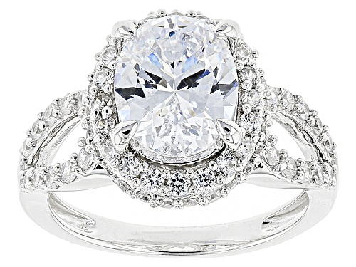 Photo of Bella Luce ® 5.65ctw White Diamond Simulant Rhodium Over Sterling Silver Ring (3.46ctw Dew) - Size 11