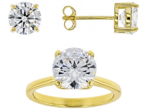 Photo of Bella Luce® 8.68ctw Eterno™ Yellow Ring and Earrings (5.11ctw DEW)