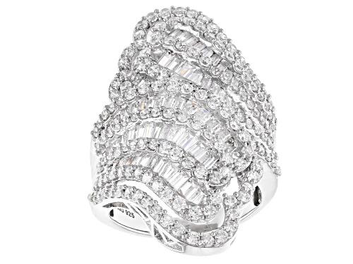 Photo of Bella Luce ® 5.98CTW White Diamond Simulant Rhodium Over Sterling Silver Ring (4.03CTW DEW) - Size 6