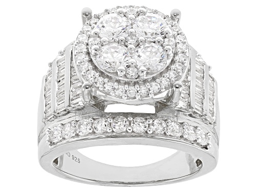 Photo of Bella Luce ® 4.80CTW White Diamond Simulant Rhodium Over Sterling Silver Ring (2.69CTW DEW) - Size 10
