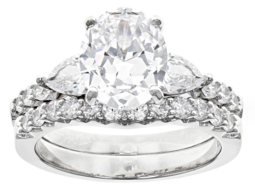 Photo of Bella Luce ® 6.11CTW White Diamond Simulant Rhodium Over Sterling Silver Ring With Band - Size 8