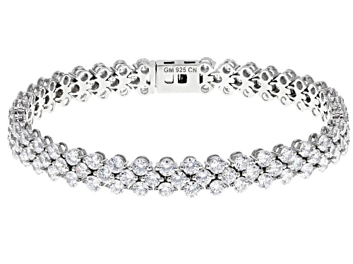 Photo of Bella Luce® 25.32ctw Rhodium Over Sterling Silver Bracelet (15.46ctw DEW) - Size 7.25