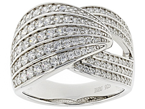 Photo of Bella Luce ® 1.93CTW White Diamond Simulant Rhodium Over Sterling Silver Ring (1.29CTW DEW) - Size 5