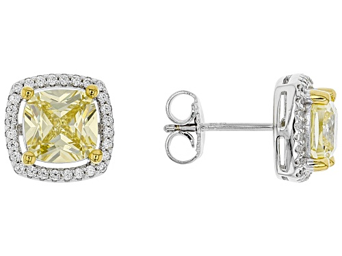 Photo of Bella Luce ® 4.97CTW Canary & White Diamond Simulants Rhodium Over Silver Earrings (1.56CTW DEW)