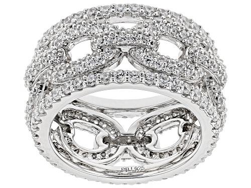 Photo of Bella Luce ® 4.68CTW White Diamond Simulant Rhodium Over Sterling Silver Ring (2.63CTW DEW) - Size 5