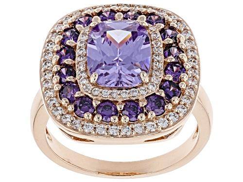 Photo of Bella Luce ® 6.22CTW Lavender, Amethyst, & White Diamond Simulants Eterno ™ Rose Ring - Size 5