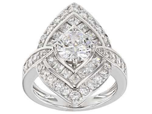 Photo of Bella Luce ® 5.18CTW White Diamond Simulant Rhodium Over Sterling Silver Ring (3.00CTW DEW) - Size 5