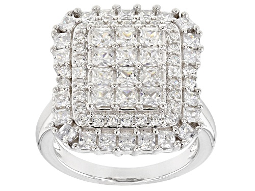Photo of Bella Luce ® 4.75CTW White Diamond Simulant Rhodium Over Sterling Silver Ring (3.02CTW DEW) - Size 11