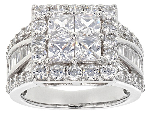 Photo of Bella Luce ® 3.98CTW White Diamond Simulant Rhodium Over Sterling Silver Ring (3.61CTW DEW) - Size 6