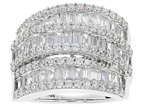 Photo of Bella Luce ® 5.60CTW White Diamond Simulant Rhodium Over Sterling Silver Ring (3.71CTW DEW) - Size 6