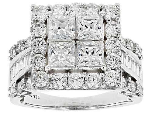 Photo of Bella Luce ® 6.58CTW White Diamond Simulant Rhodium Over Sterling Silver Ring (3.89CTW DEW) - Size 11