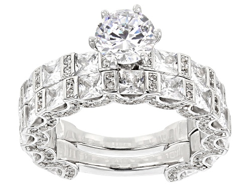 Photo of Bella Luce ® 10.90CTW White Diamond Simulant Rhodium Over Sterling Silver Ring With Band - Size 11