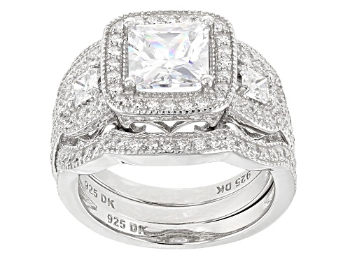 Photo of Bella Luce ® 4.93CTW White Diamond Simulant Rhodium Over Sterling Silver Ring With Bands - Size 10