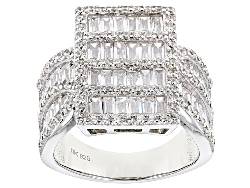Photo of Bella Luce ® 5.14CTW White Diamond Simulant Rhodium Over Sterling Silver Ring (3.27CTW DEW) - Size 11