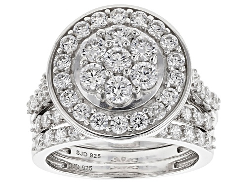 Photo of Bella Luce ® 4.54CTW White Diamond Simulant Rhodium Over Sterling Silver Ring- Set Of 3 - Size 7