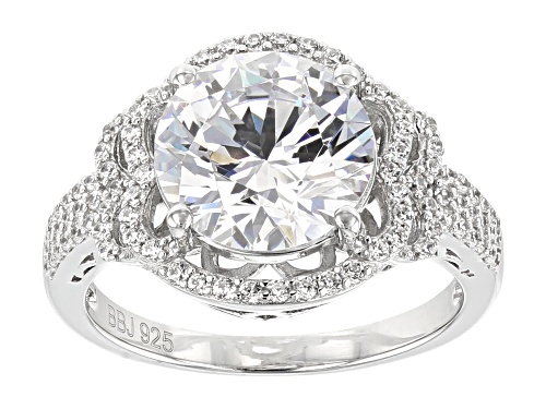 Bella Luce ® 8.24CTW White Diamond Simulant Rhodium Over Sterling Silver Ring - Size 12