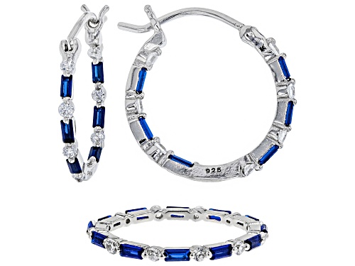 Photo of Bella Luce®3.38CTW Lab Blue Spinel & Diamond Simulant Rhodium Over Silver Earring & Ring Set