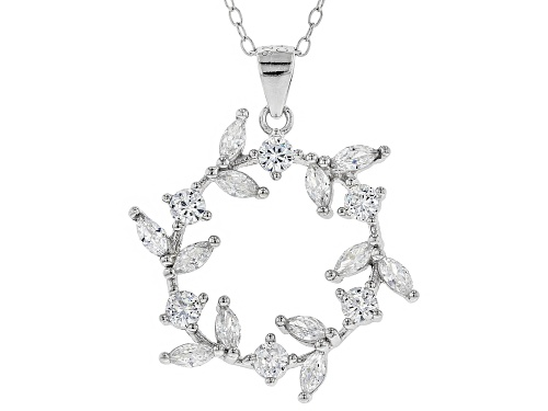 Photo of Bella Luce ® 1.86CTW White Diamond Simulant Rhodium Over Sterling Silver Pendant With Chain