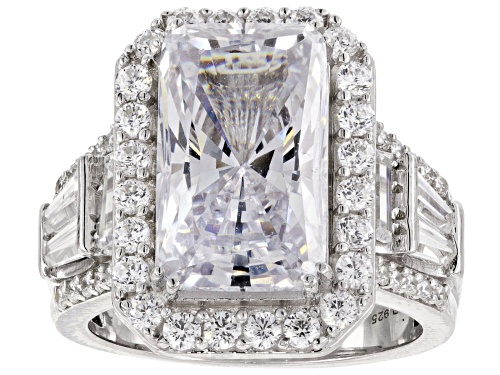 Photo of Bella Luce ® 14.38CTW White Diamond Simulant Rhodium Over Sterling Silver Ring - Size 7