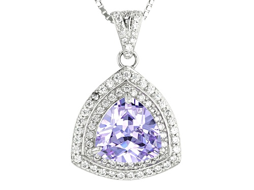 Photo of Bella Luce ® 6.82CTW Lavender &White Diamond Simulants Rhodium Over Silver Pendant With Chain