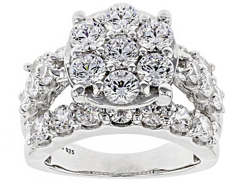 Photo of Bella Luce ® 7.70CTW White Diamond Simulant Rhodium Over Sterling Silver Ring (3.95CTW DEW) - Size 11