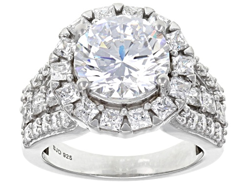 Photo of Bella Luce ® 10.71CTW White Diamond Simulant Rhodium Over Sterling Silver Ring - Size 8