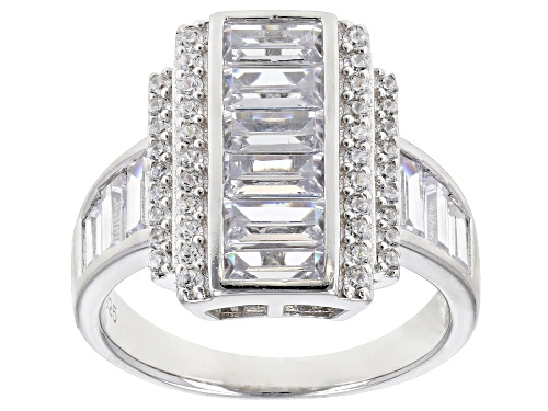 Photo of Bella Luce ® 4.20CTW White Diamond Simulant Rhodium Over Sterling Silver Ring - Size 5