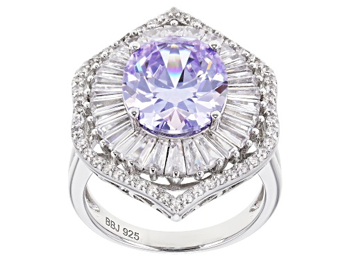 Photo of Bella Luce ® 11.31CTW Lavender & White Diamond Simulants Rhodium Over Sterling Silver Ring - Size 9