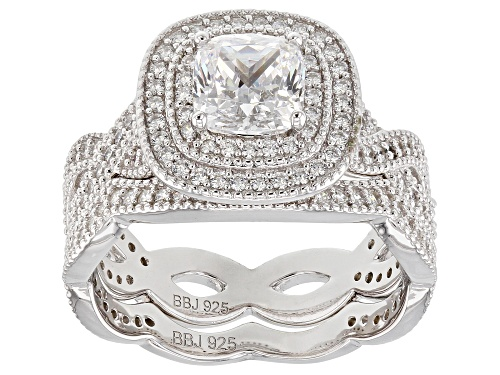 Photo of Bella Luce ® 3.36CTW White Diamond Simulants Rhodium Over Sterling Silver Ring With Band - Size 10