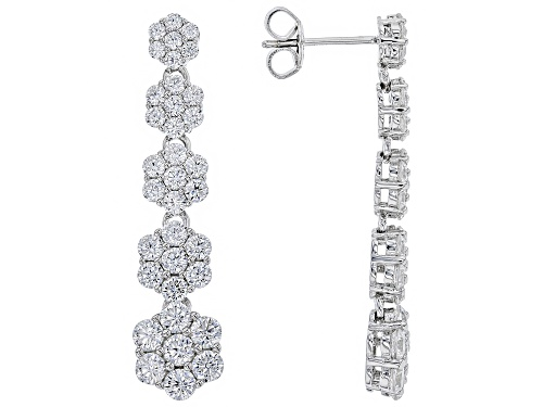 Photo of Bella Luce ® 6.72CTW White Diamond Simulant Rhodium Over Sterling Silver Earrings