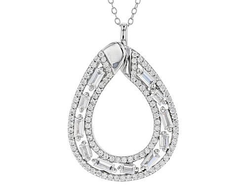Photo of Bella Luce ® 2.99CTW White Diamond Simulant Rhodium Over Silver Pendant With Chain