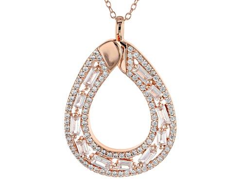 Photo of Bella Luce ® 2.99CTW White Diamond Simulant Eterno ™ Rose Pendant With Chain