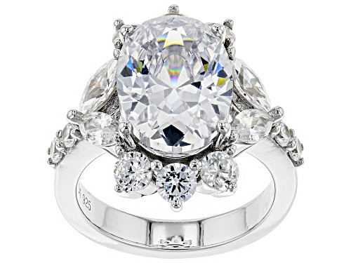Photo of Bella Luce ® 14.12CTW White Diamond Simulant Rhodium Over Sterling Silver Ring (8.07CTW DEW) - Size 8