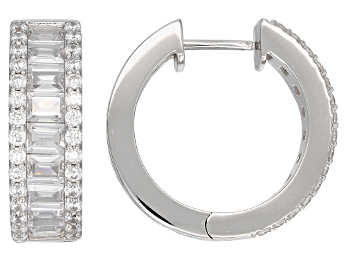 Photo of Bella Luce ® 8.98CTW White Diamond Simulant Rhodium Over Sterling Silver Earrings