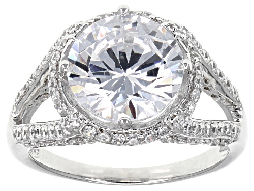 Photo of Bella Luce ® 7.62CTW White Diamond Simulant Rhodium Over Sterling Silver Ring (4.79CTW DEW) - Size 7