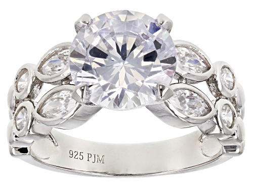 Photo of Bella Luce ® 6.75CTW White Diamond Simulant Rhodium Over Sterling Silver Ring (4.07CTW DEW) - Size 10