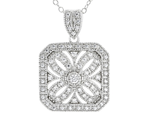 Photo of Bella Luce ® 0.67CTW White Diamond Simulant Rhodium Over Sterling Silver Pendant With Chain