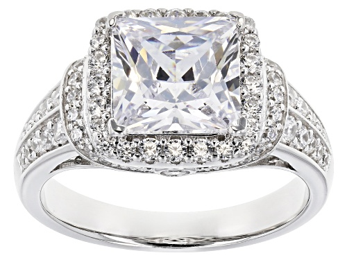 Photo of Bella Luce ® 5.48CTW White Diamond Simulant Rhodium Over Silver Ring (3.67CTW DEW) - Size 7