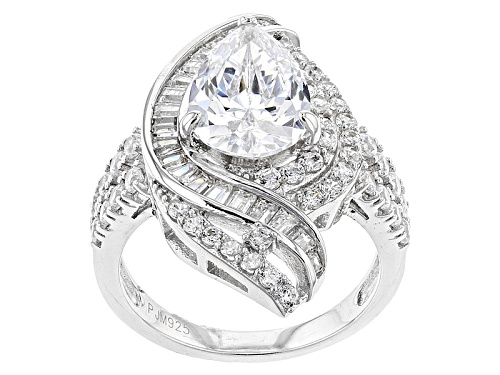 Photo of Bella Luce ® 6.67ctw Rhodium Over Sterling Silver Ring (4.42ctw Dew) - Size 7