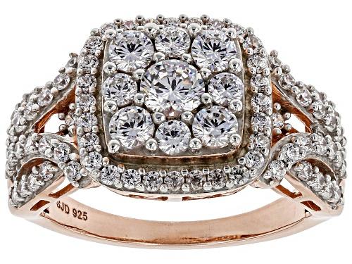 Photo of Bella Luce ® 2.60CTW White Diamond Simulant Eterno ™ Rose Ring (1.43CTW DEW) - Size 6