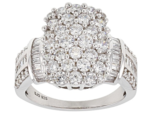 Photo of Bella Luce ® 3.87CTW White Diamond Simulant Rhodium Over Sterling Silver Ring (1.18CTW DEW) - Size 8