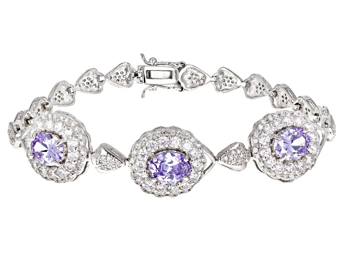 Photo of Bella Luce ® 18.81CTW Lavender And White Diamond Simulants Rhodium Over Sterling Silver Bracelet - Size 8