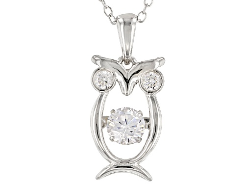 Photo of Bella Luce ® 1.05CTW White Diamond Simulant Rhodium Over Silver Owl Pendant With Chain (0.58CTW DEW)