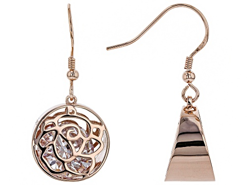 Photo of Bella Luce ® 13.31CTW White Diamond Simulant Eterno ™ Rose Gold Over Silver Earrings (7.74CTW DEW)