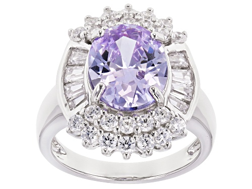 Photo of Bella Luce ® 8.70CTW Lavender And White Diamond Simulants Rhodium Over Silver Ring (5.13CTW DEW) - Size 7