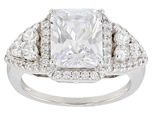 Photo of Bella Luce ® 5.20CTW White Diamond Simulant Rhodium Over Sterling Silver Ring (3.59CTW DEW) - Size 10