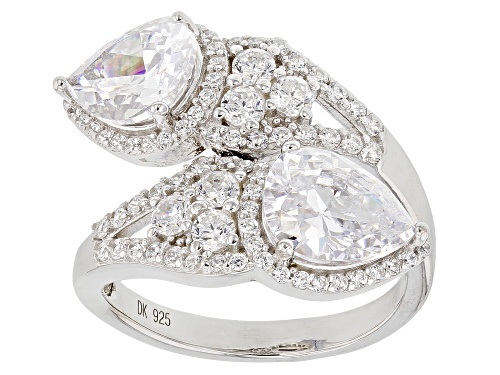 Photo of Bella Luce ® 6.72CTW White Diamond Simulant Rhodium Over Sterling Silver Ring (4.38CTW DEW) - Size 7
